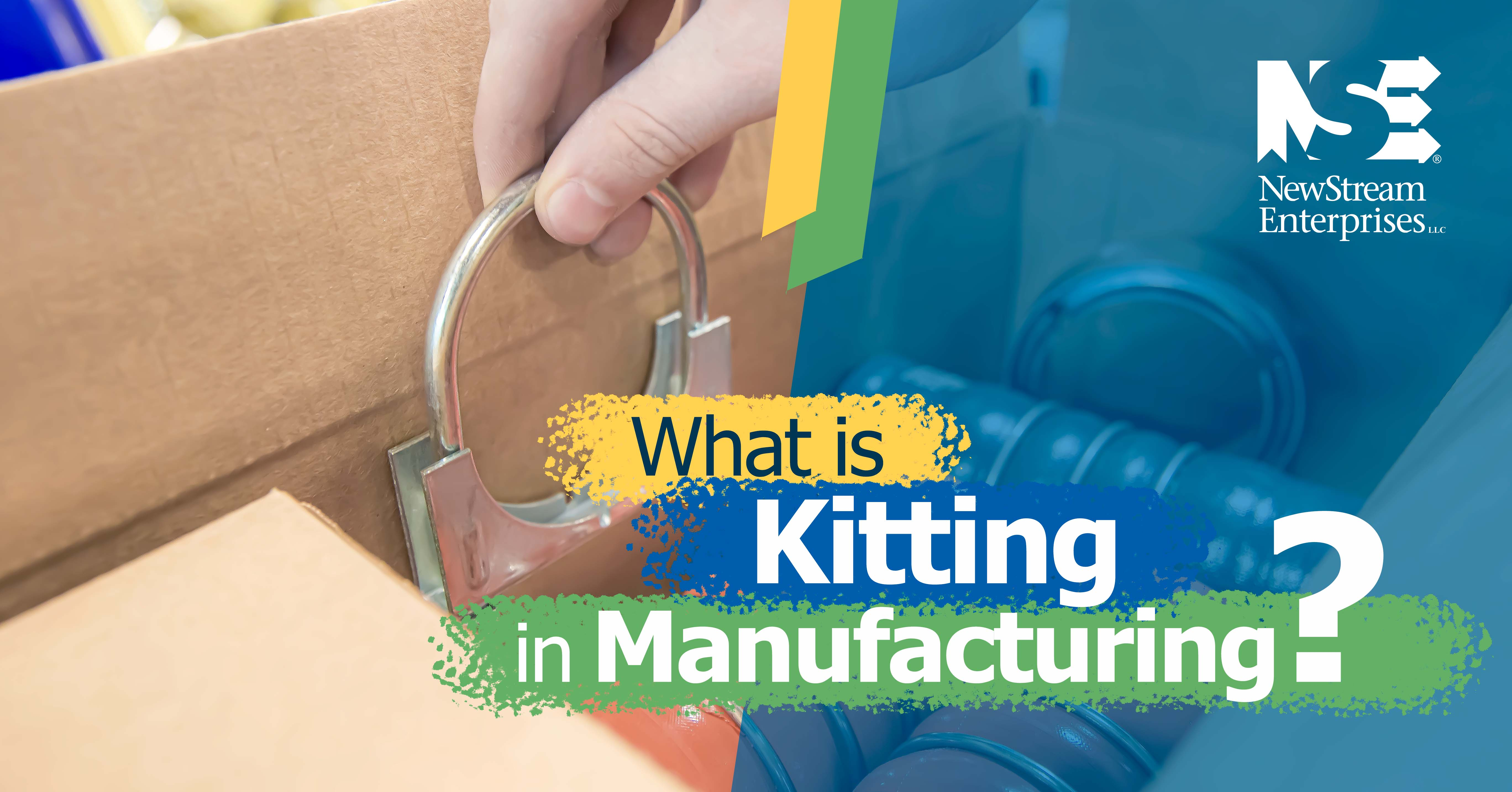 What is kitting in manufacturing blog title graphic